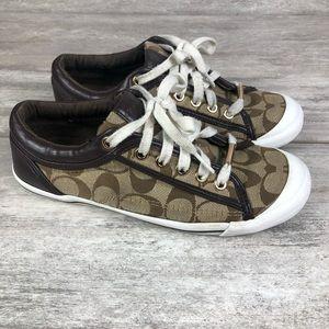 Coach sneakers brown logo